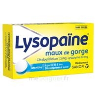 LysopaÏne Comprimés à Sucer Maux De Gorge Sans Sucre 2t/18 à JUAN-LES-PINS
