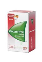 Nicorette 2 Mg Gomme à Mâcher Médicamenteuse Sans Sucre Fruits Plq/105 à JUAN-LES-PINS