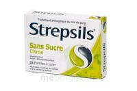 Strepsils Citron Sans Sucre, Pastille édulcorée à L'isomalt, Au Maltitol Et à La Saccharine Sodique à JUAN-LES-PINS