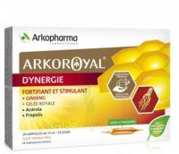 Arkoroyal Dynergie Ginseng Gelée Royale Propolis Solution Buvable 20 Ampoules/10ml à JUAN-LES-PINS