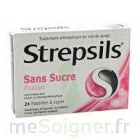 Strepsils Fraise Sans Sucre, Pastille édulcorée à L'isomalt, Au Maltitol Et à La Saccharine Sodique à JUAN-LES-PINS