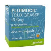 Fluimucil Expectorant Acetylcysteine 200 Mg Sans Sucre, Granulés Pour Solution Buvable En Sachet édulcorés à L'aspartam Et Au Sorbitol à JUAN-LES-PINS