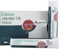 Calcium Vitamine D3 Teva 500 Mg/400 Ui, Comprimé à Sucer Ou à Croquer à JUAN-LES-PINS