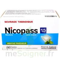 Nicopass 1,5 Mg Pastille Sans Sucre Menthe Fraîcheur Plq/96 à JUAN-LES-PINS