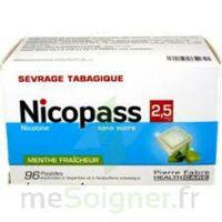 Nicopass 2,5 Mg Pastille Menthe Fraîcheur Sans Sucre Plq/96 à JUAN-LES-PINS