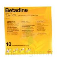 Betadine Tulle 10 % Pans Méd 10x10cm 10sach/1 à JUAN-LES-PINS