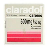 Claradol Cafeine 500 Mg/50 Mg, Comprimé Effervescent à JUAN-LES-PINS