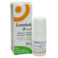 Cromabak 20 Mg/ml, Collyre En Solution à JUAN-LES-PINS