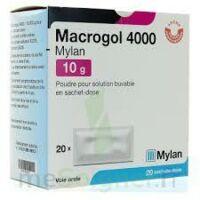 Macrogol 4000 Mylan 10 G, Poudre Pour Solution Buvable En Sachet-dose à JUAN-LES-PINS