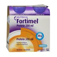 Fortimel Protein Nutriment Caramel 4 Bouteilles/200ml à JUAN-LES-PINS