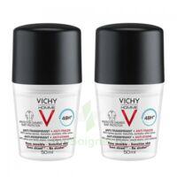 Vichy Homme Déodorant Anti-transpirant Anti Trace 48h 2*billes/50ml à JUAN-LES-PINS