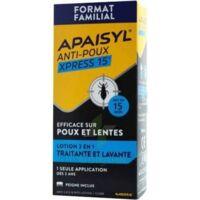Apaisyl Anti-poux Xpress 15' Lotion Antipoux Et Lente 100ml+peigne à JUAN-LES-PINS